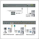 IOGEAR 8-Port USB PS/2 Combo VGA KVMP Switch with