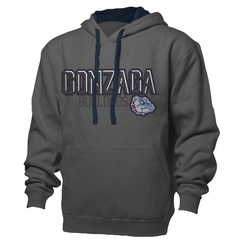 NCAA Gonzaga Bulldogs Benchmark Colorblock Pullover Hood, XX-Large, Graphite/Navy