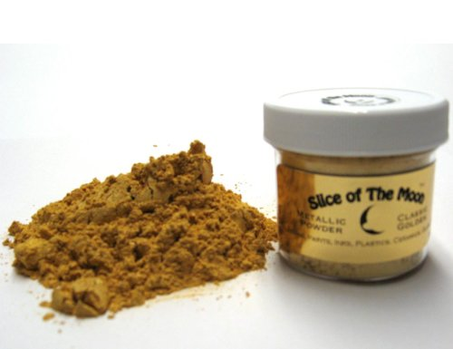 Gold Mica Powder, 1oz, Metallic Gold Powder - Cosmetic Grade Mica Powder - Slice of the Moon