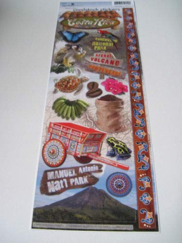 Sticker Scrapbooking Cardstock Paper House Costa Rica Coffee Beans Turtle 13