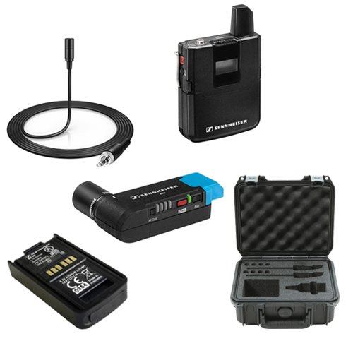 A20 Digital Camera - Sennheiser AVX Camera-Mountable Lavalier Pro Digital Wireless Set (MKE2 Lavalier) Bundle with SKB Waterproof Case and BA20 Recharging Battery Pack