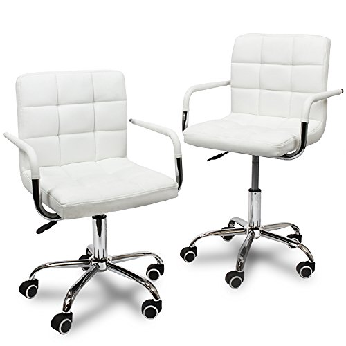 XtremepowerUS Set of 2 Modern Office Executive PU Leather Sw