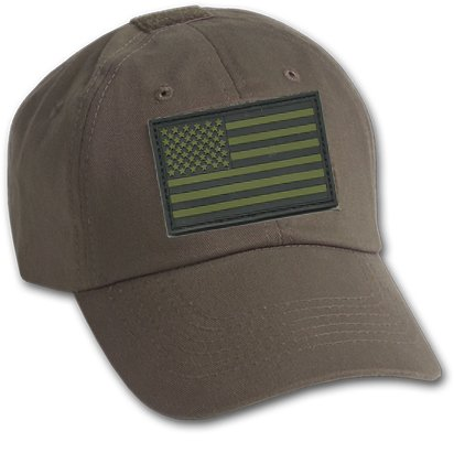 Velcro Patch Baseball - Bundle (Olive Drab) - 2 Items - Operator Cap & Matching PVC Tactical USA Patch