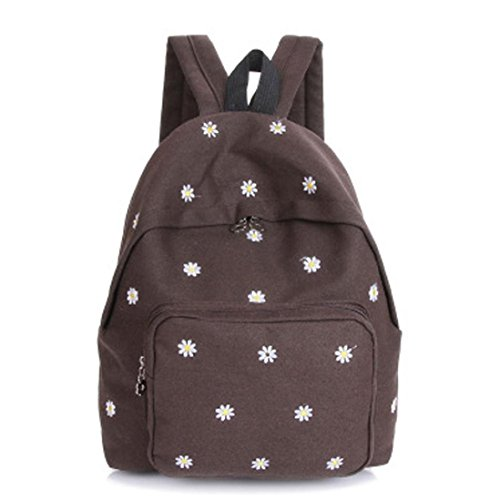 Solid Zipper Brown School Backpack Boy Teenage Allywit Shoulder Bags Women Fashion Girl Bag qUURO