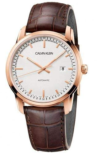 Calvin Klein Mens Analogue Automatic Watch with Leather Strap K5S346G6 (Calvin Klein Watch Leather Strap)