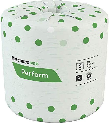 "Cascades PRO Standard Toilet Paper, 336 Sheets Bathroom Tissue, 4"" x 3.50"", White 48 according to Carton"