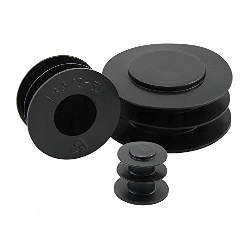 Pipe Plugs - Black Pipe Plug for 127 mm OD or G 4-1/2'' Bst Threads MOCAP PP152BK1 (qty3) by MOCAP