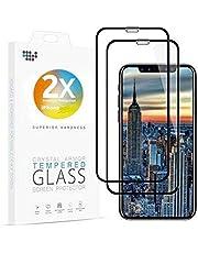 Asenzat Panzerglas Full-Screen Panzerglasfolie kompatibel mit iPhone 11 Pro Schutzfolie/iPhone XS/X Schutzfolie [2 Stück] [10D-gerundeten Kanten] für iPhone 11 Pro, iPhone XS/X