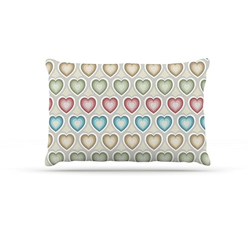 Kess InHouse Julia Grifol My Hearts  Fleece Dog Bed, 50 by 60 , Multicolor