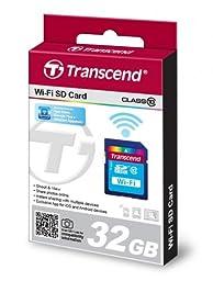 Transcend 32 GB Wi-Fi SDHC Class 10 Memory Card (TS32GWSDHC10)