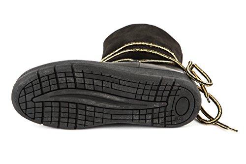 Lazamani Damen Winter Boots Schwarz Gold Gr. 37