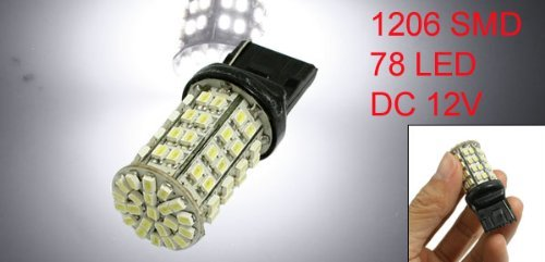 Amazon.com: eDealMax Bombilla auto auto T20 Blanca 1206 78 SMD LED de luz de la cola de la lámpara Turn: Automotive