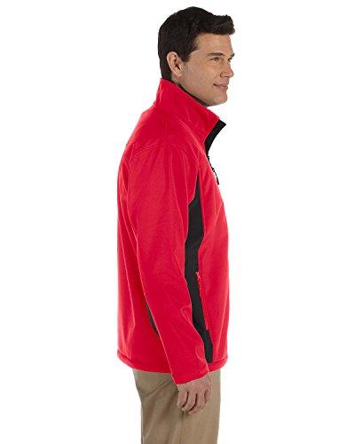 Jones Mens Soft Shell - Devon & Jones Men's Soft Shell Colorblock Jacket, Red/Dk Charcoal, XXXX-Large