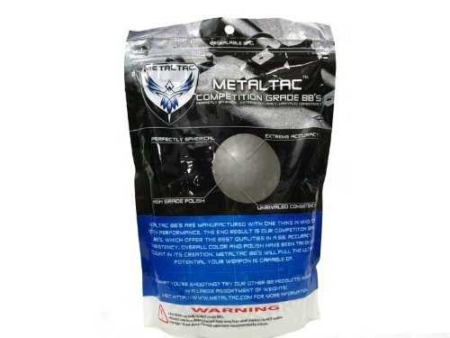 MetalTac Airsoft BBs .20g Perfect Grade High Precision 6mm BB Pellets (Bag of 5000 Rounds)