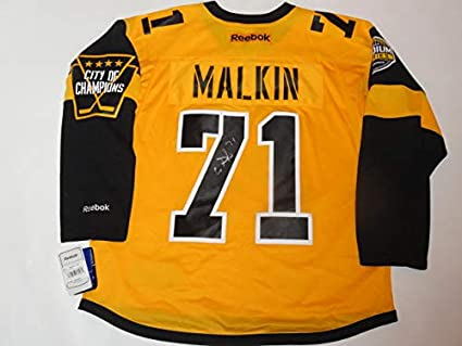 fc049a073 Image Unavailable. Image not available for. Color  EVGENI MALKIN SIGNED PITTSBURGH  PENGUIN 2017 STADIUM SERIES JERSEY ...