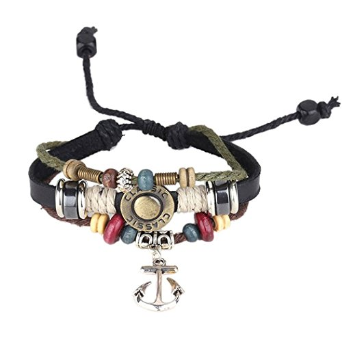 Red Dandelion Personalize Retro Rudder Anchors Bracelet Adjustable Unisex Braided (Harry Potter Dressing Up)
