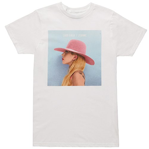 Bravado Lady Gaga Joanne Album Cover Adult T-Shirt - White (Medium)