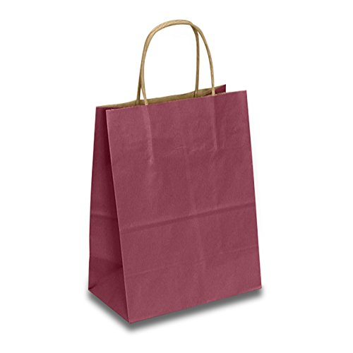 Burgundy Paper Gift Bags | Quantity: 250 | Width: 8'' Gusset - 4 3/4 by Paper Mart