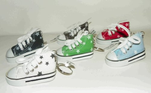 "Canvas ""STARS"" Mini Hi Top Sneaker Keychain - 2 Pack"