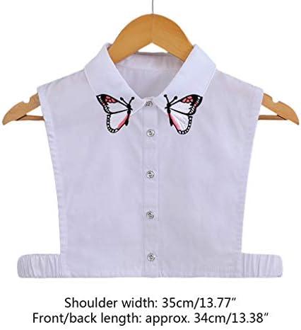 BINGHONG3 Blusa de Media Camisa Desmontable con Cuello Falso, Bordada, para Mujer: BINGHONG3: Amazon.es: Hogar
