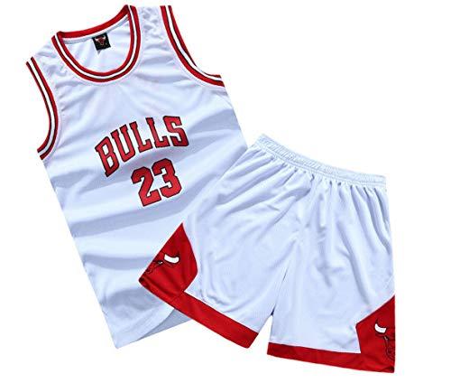 - Suitable for Children NBA Basketball Clothes Suit Summer # 23 Jordan, Breathable mesh, Campus costumes-4-XL