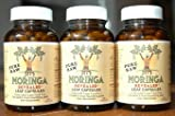 Moringa Leaf Powder Capsules 3 Pack: 3x90 Kosher Certified Vcaps (Hi-potency) African Grown