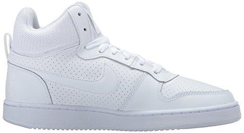 EU Blanc Blanc Court Blanc Basketball Mid 5 WMNS Borough 40 Nike Femme Chaussures de Sport TqP60z