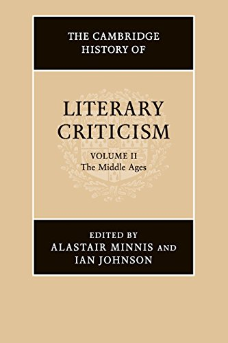 The Cambridge History of Literary Criticism: Volume 2, The Middle Ages