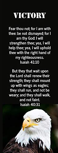 Victory Eagle Bookmarks Isaiah 41 Bible Verse Christian Bookmarks (50 Count)