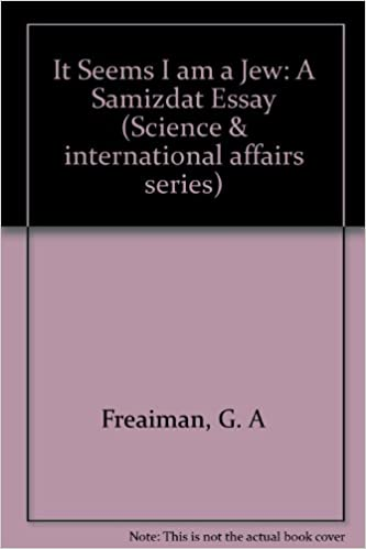 it seems i am a jew a samizdat essay on soviet mathematics  it seems i am a jew a samizdat essay on soviet mathematics science and international affairs grigori freiman melvyn b nathanson ph d 9780809309627