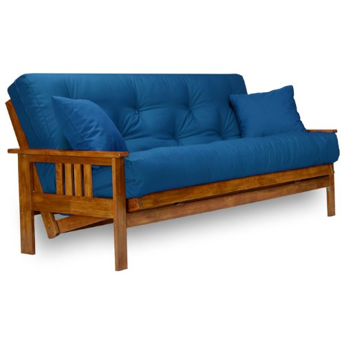 Stanford Futon Frame - Full Size, Solid - Arm Wood Futon