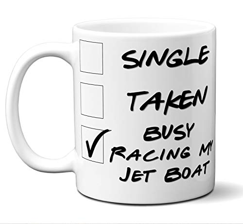 Sprint Racing Boat (Funny Jet Sprint Boat Racer Gift Coffee Mug Tea Cup Idea For Lover Enthusiast Fan. Jet Sprint Boat Racing Christmas Birthday Hannukah Father's Day Mother's Day Him Her Men Women. 11 oz.)