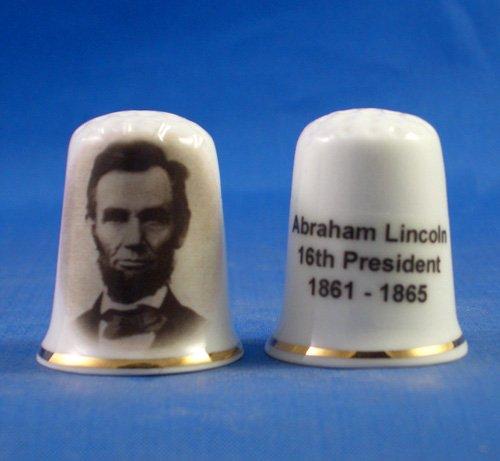 Porcelana China Coleccionable de dedal Abraham Lincoln 16th presidente Estados Unidos