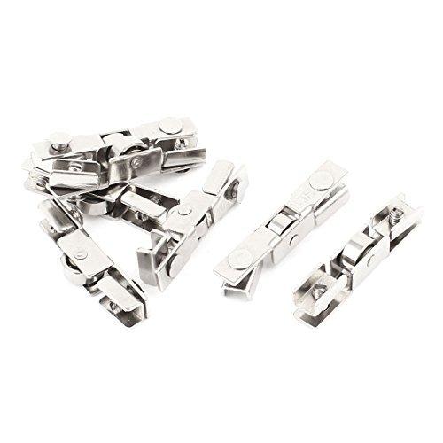 Armario de metal de diapositivas puerta de tornillo montado en la rueda de rodillo de 10 mm 7pcs Dia - - Amazon.com
