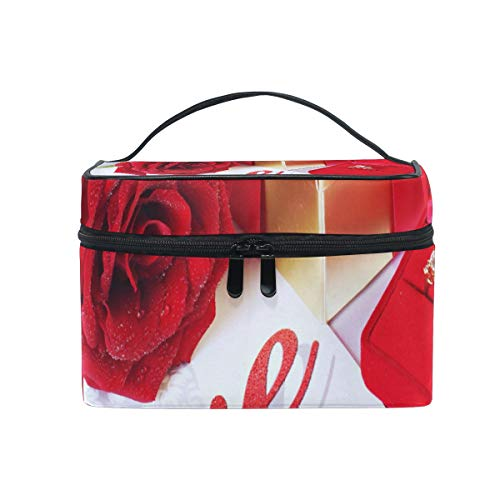 (Travel Cosmetic Bag Color - Emotions Flowers Life Love Toiletry Makeup Bag Pouch Tote Case Organizer Storage For Women Girls)