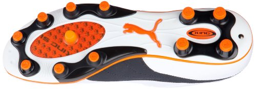 Puma - Botas de fútbol para hombre Weiss (white-dark navy-team orange 01) (Weiss (white-dark navy-team orange 01))
