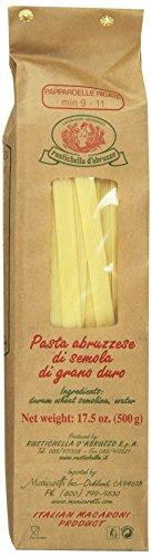 (Rustichella D'Abruzzo Pasta Pappardelle Rigate, Durum Wheat, 1.1 Pound)