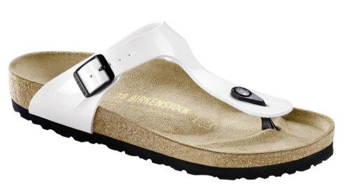 Birkenstock Gizeh Sandals - EUR 43 - regular - White - Birko-Flor Varnisch 3ftCAQ5R