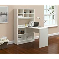 Argo Furniture Yeadon L-Shape Writing Desk with Hutch, White
