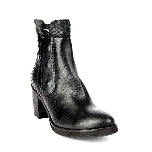 Genuine Femme en Tomber 9013 amour Talons Bottines Cuir Chaussures Celine à Felmini Noir avec PHqwB5fW5p