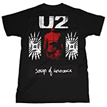 U2 Red Shade Album Songs of Innocence Rock Official Tee T-Shirt Mens Unisex