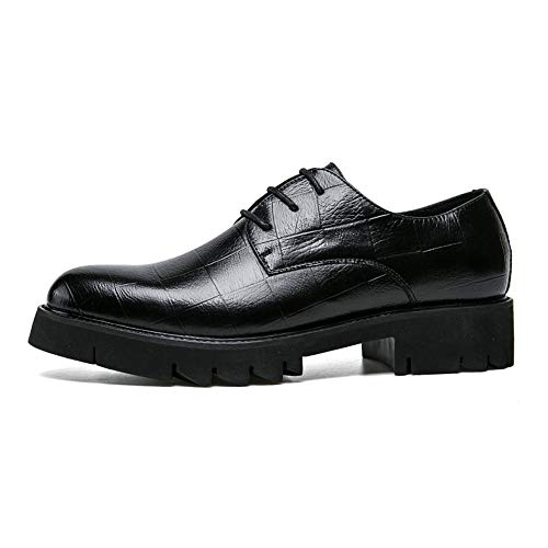 Shoes Uomo Scarpe Outsole Oxford da Cricket Formal Wear da Moda Nero Fashion Antiskid q4wn85zF