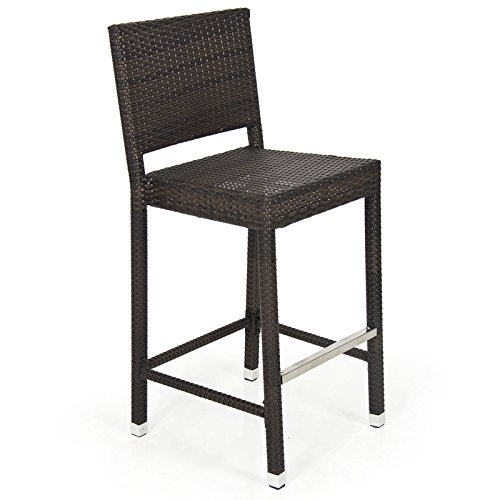 Outdoor Wicker Barstool All Weather Brown Patio Furniture New Bar Stool (Wicker Furniture Tampa)