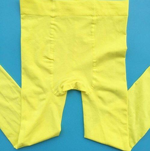 CoCocina 3 Pair Thin Professional Ballet White Pantyhose Plus File Anti-Pilling Velvet Children'S Dance Socks - Yellow - M by CoCocina