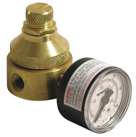 WATTS Pressure Regulator 1/4 In 0 to 125 psi