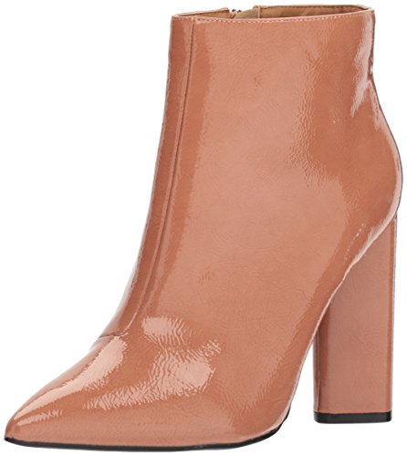 Pointy Toe Bootie - Qupid Women's Pointy Toe Bootie Ankle Boot, Mauve Patent, 6.5 M US