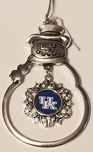 (FTH Kentucky Wildcats Snowman Ornament with Rhinestones )