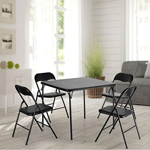 JAXPETY 5-Piece Folding Card Table and Chairs Set