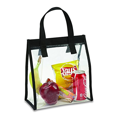 (Clear Lunch Tote Bag with One Touch Closure Clear Bag Stadium Approved)