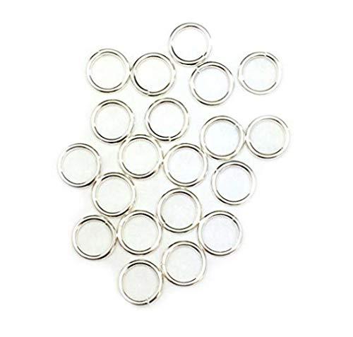 (50 Jump Rings Open Sterling Silver Jewelry 19 Ga 6mm)